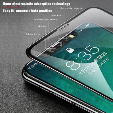 Folie Sticla 6D Iphone X Geam Protectie Acoperire Completa Neagra