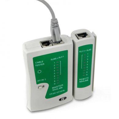tester cablu UTP FTP RJ45 RJ11 - TESTEAZA CABLU RETEA